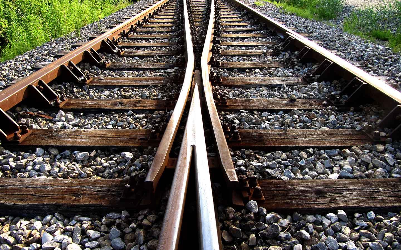 Zwei Bahngleise